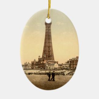 The Tower, Blackpool, England Vintage image Christmas Ornament