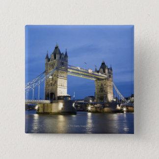 The Tower Bridge at Dusk 15 Cm Square Badge