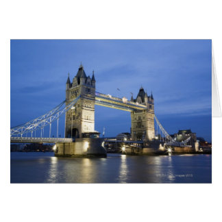 The Tower Bridge at Dusk Card