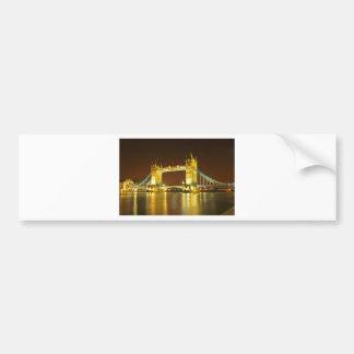 The Tower Bridge By Night Bumper Sticker