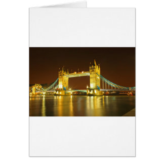 The Tower Bridge By Night Card