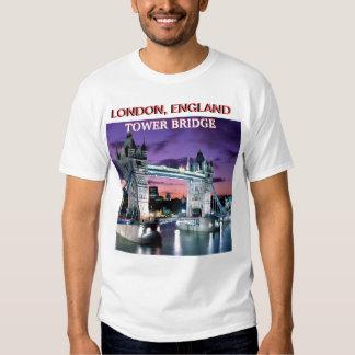 THE TOWER BRIDGE LONDON, ENGLAND BY MOJ GBADAMOSI TSHIRT