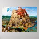 The Tower of Babel Pieter Bruegel the Elder art Poster