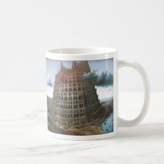 The Tower of Babel - Pieter Bruegel the Elder Basic White Mug