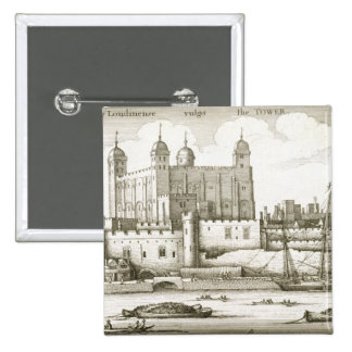 The Tower of London, 1647 (engraving) 15 Cm Square Badge