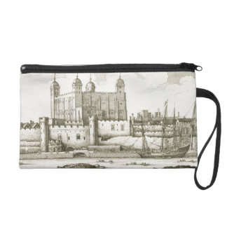 The Tower of London, 1647 (engraving) Wristlet Purse