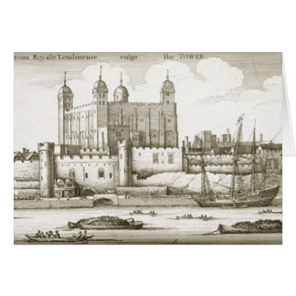 The Tower of London 1647 engraving Greeting Card