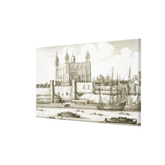 The Tower of London, 1647 (engraving) Gallery Wrap Canvas