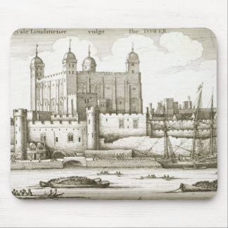 The Tower of London 1647 engraving Mousepads