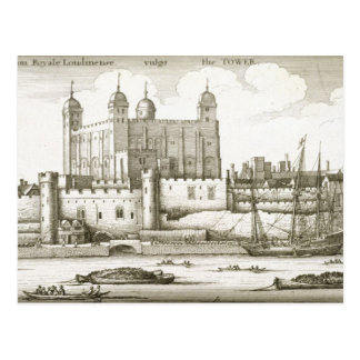 The Tower of London, 1647 (engraving) Postcard