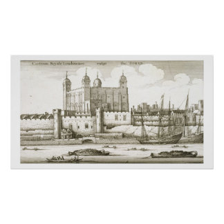 The Tower of London, 1647 (engraving) Poster