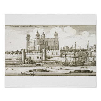 The Tower of London, 1647 (engraving) Posters