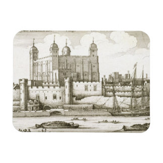 The Tower of London 1647 engraving Rectangular Magnet