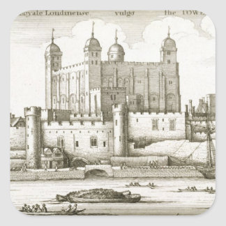 The Tower of London, 1647 (engraving) Square Sticker