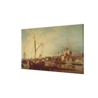 The Tower of London from the Thames Canvas Print