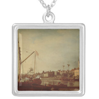 The Tower of London from the Thames Silver Plated Necklace