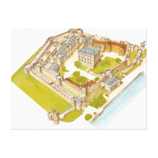 The Tower of London. London Stretched Canvas Print