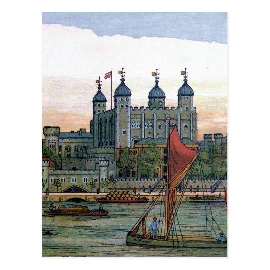 """The Tower of London"" Vintage Illustration Postcard"