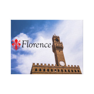 The tower of Palazzo Vecchio in Florence Canvas Print
