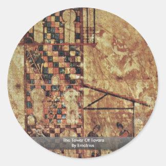 The Tower Of Tavara By Emetrius Round Sticker