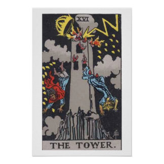 The Tower Tarot Card Poster
