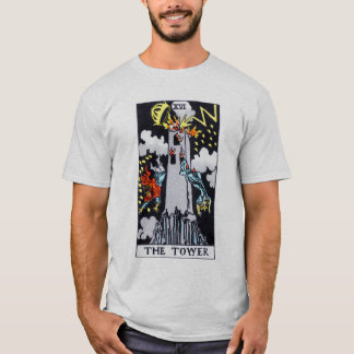 The Tower Tarot Card T-Shirt
