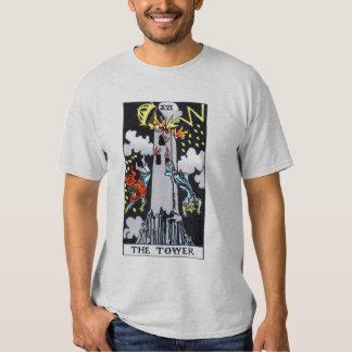 The Tower Tarot Card Tshirts