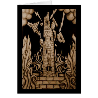 The Tower Tarot Greeting Card