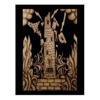 The Tower Tarot Postcard