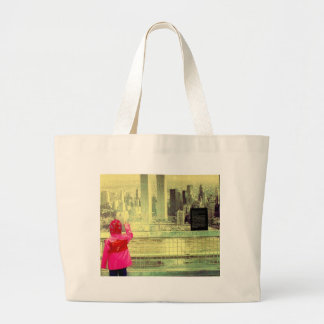 The Towers and a Child Jumbo Tote Bag