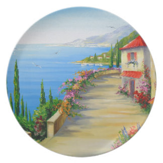 The town by the sea plate