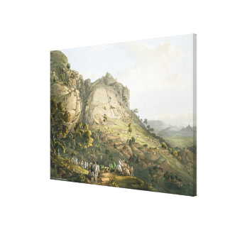 The Town of Abha in Abyssinia, engraved by J. Bluc Canvas Print