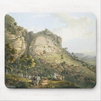 The Town of Abha in Abyssinia, engraved by J. Bluc Mouse Mat