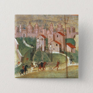 The Town of Prato (fresco) 15 Cm Square Badge