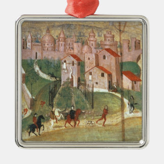 The Town of Prato (fresco) Christmas Ornament