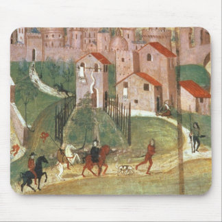 The Town of Prato (fresco) Mouse Mat