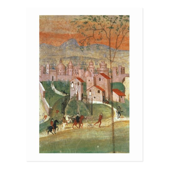 The Town of Prato (fresco) Postcard