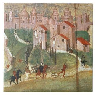 The Town of Prato (fresco) Tile