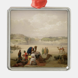 The Town of Roree, and the Fortress of Bhukker, on Christmas Ornament