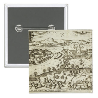 The Town of Tokay Recovered from the Turks by Herr 15 Cm Square Badge