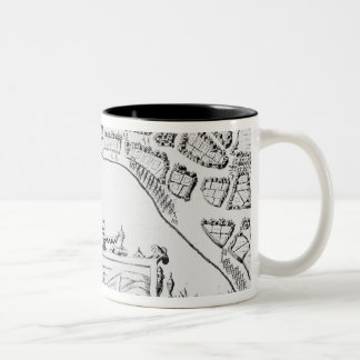 The Towne and Platforme of Fayall Two-Tone Coffee Mug