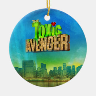 The Toxic Avenger Round Ceramic Decoration