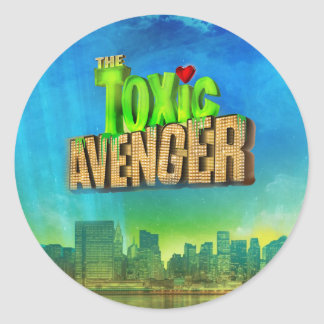 The Toxic Avenger Round Sticker