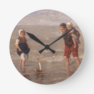 The Toy Boat Round Clock