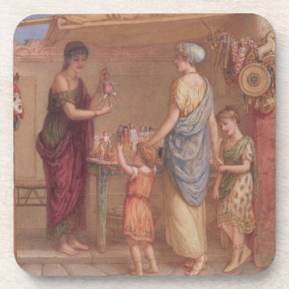 The Toy Seller, 1879 (w/c and bodycolour on paper) Drink Coasters
