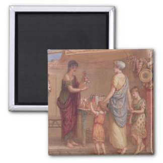 The Toy Seller, 1879 (w/c and bodycolour on paper) Square Magnet