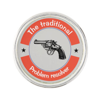 The traditional problem resolver lapel pin