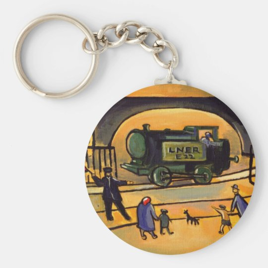 (THE TRAIN) BASIC ROUND BUTTON KEY RING