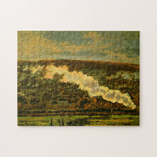 The Train Monet Fine Art Jigsaw Puzzle