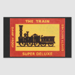 The Train Vintage Match Label Rectangle Sticker